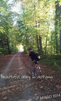 An autumn bike ride with my love