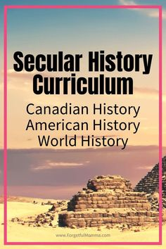 Homeschool Secular History Curriculum - #historycurriculum #secularcurriculum #homeschool #homeschoolscurriculum