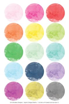 This listing is for a x digital collage sheet with circles / bottlecap images. Watercolor Circles, Watercolor Pattern, Journal Stickers, Planner Stickers, Circle Scrapbook, Creation Bougie, Bottle Cap Crafts, Image Digital, Bottle Cap Images