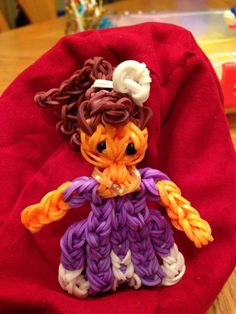 SOPHIA the First. Designed and loomed by Donna Lorber on the Rainbow Loom (with inspiration from MarloomZ Creations and TutorialsbyA??) Rainbow Loom FB page.