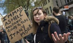 Singer Charlotte Church at a protest in Cardiff