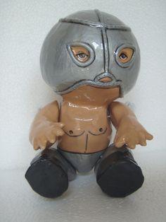 Tribute to el Santo Mexican wrestler  paper by OriginalVeroPerez, $110.00 Original Veronica Perez