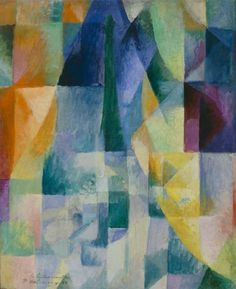 Robert Delaunay WINDOWS OPEN SIMULTANEOUSLY (1st Part, 2nd Motif) 1912, o/c, 57 x 123 cm, Guggenheim ORPHISM