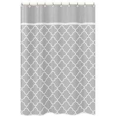 White And Grey Hotel Shower Curtain Overstock Com