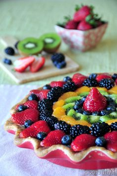 The Ultimate Fresh Fruit Tart to celebrate 4th of July