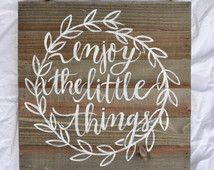 WOOD SIGN with caligraphy QUOTE 12x12x1.75 inches for your home