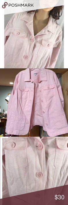 Pink Cotton Button Down Jacket- Brand New Size 3XL. Brand- Croft & Barrow. Brand new. Never worn. It's a Button Down Jacket. croft & barrow Jackets & Coats