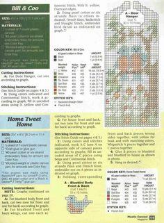 Home Tweet Home 2 & Bill & Coo 2 Plastic Canvas Ornaments, Plastic Canvas Patterns, Canvas Door Hanger, Doorknob Hangers, Door Holders, 2 Bill, Canvas Board, Door Knob, Birdhouses