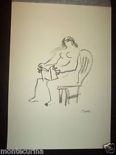HENRY MOORE SEATED WOMAN READING DONNA SEDUTA CHE LEGGE STAMPA OFFSET