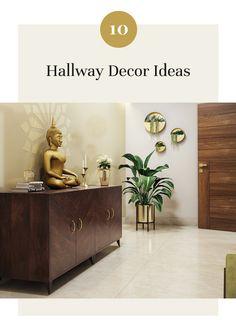 10 Hallway Decor Ideas to Inspire a Remodel Living Room Partition Design, Room Door Design, Foyer Design, Home Room Design, Home Interior Design, Living Room Designs, Indian Home Design, Indian Home Interior, Indian Interiors