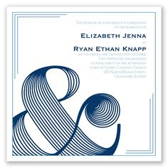 Make An Impression Letterpress - Wedding Invitation, Modern Typography at Invitations By David's Bridal