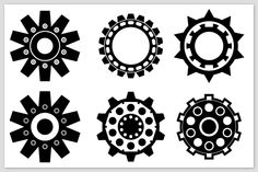 Selection of 12 Cog symbols