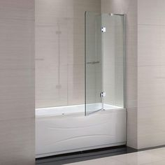 Schon Mia 40 in. x 55 in. Semi-Framed Hinge Tub and Shower Door in Chrome and Clear - The Home Depot Framed Shower Door, Glass Shower Doors, Tub Enclosures, Shower Enclosure, Bathtub Shower Combo, Tub And Shower, Corner Tub Shower Combo, Bathtub Doors, Clawfoot Bathtub