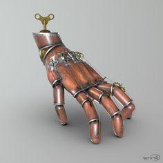 ArtStation - Steampunk Clockwork Hand, Wrinit Games