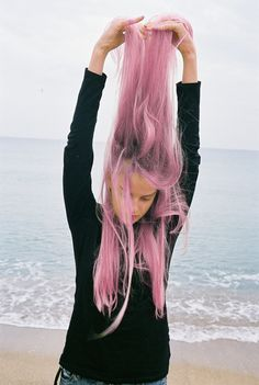 Pink hair don't care xx