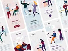 👏 Introducing new illustration pack! designed by Denis Shepovalov for Craftwork. Connect with them on Dribbble; the global community for designers and creative professionals. Cute Stories, Saint Charles, Create A Logo, Dream Team, Show And Tell, Guacamole, The Incredibles, Community, Packing
