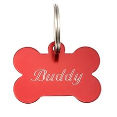 Personalized Bone Dog Tag. Name On Front And Phone Number On The Back - useful and fun #pets #DogTag
