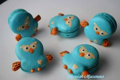 Unbearably cute owl macaroons hand piped by Moreish Macarons!