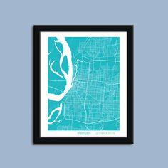 Memphis tennessee city street map print custom wall map pinterest memphis map memphis city map art memphis wall art poster memphis decorative map malvernweather Images
