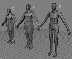 3d Model Character, Character Modeling, 3d Human, Illustration Techniques, Lake Art, Modelos 3d, Low Poly Models, Low Poly 3d, 3d Tutorial
