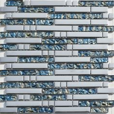 Silver Glass Mosaic Blue Glass Tiles Backsplash Ssmt130 Kitchen Glass Tiles Bathroom Wall Tile Glass Mosaics