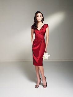 Satin red bridesmaid dress from Sophia Tolli Bridesmaids