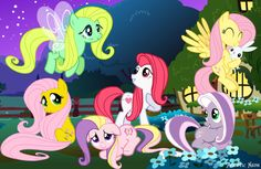 I didn't know that Fluttershy has gone through so much change. But I must say, I like the white and red version of her.