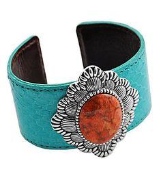 Barse Orange Songe Coral Cuff Bracelet Cuff Is Turquoise | eBay