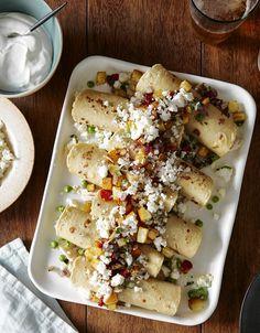 Josef Centeno's Recipe for Chicken and Pea Enchiladas