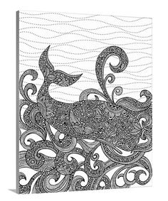 Whale Coloring Canvas Zulilyfinds
