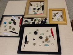 Open ended play: Loose parts in a picture frame Kindergarten Special Education, Early Childhood Education, Play Based Learning, Learning Through Play, Opening A Daycare, Reggio Classroom, Classroom Ideas, Starting A Daycare, Family Day Care