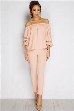 b7015c8f7ff Co-ordinate Bardot Top And Bottom Suit Bardot Shirt