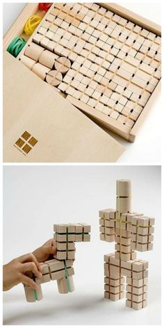 Sizai block toy by Wanimokko studio