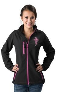 Cowgirl Hardware® Women's Black with Zebra Cross Embroidery Long Sleeve Bonded Jacket | Cavender's
