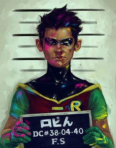 fotisha: Trouble in Tokyo Robin, after he's arrested after fighting teh CMYK ink baddies ;P Reference DA MY FOOSH LADY KICKING SO MUCH ASS AND TICKLING MY COLORTASTIC LOVE FANCY WITH HER AMAZING ART!