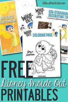 disney inside out | FREE Disney Pixar Inside Out Printable Activity Sheets — A Few Short ...