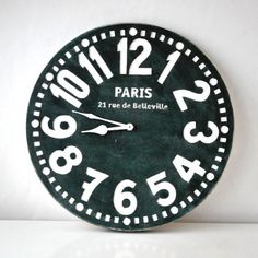 Wall #clock #black http://nuwzz.com/product/wall-clock-paris-black-shabby-chic-cottage-style-birch-wood-vintage-style-2/