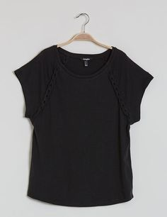 Tee-shirt tressé noir