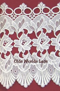 Heritage French Macrame and Tiers that we are presenting to you are among the finest French Lace from Heritage. Antique Lace, Vintage Lace, Lace Valances, Lace Drawing, Macrame Rings, Lace Art, Crochet Curtains, Home Curtains, Lace Tattoo