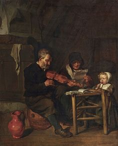 Gabriel Metsu (Dutch, 1629–1667)   So die Alten Sungen, so Pfeifen die Jungen