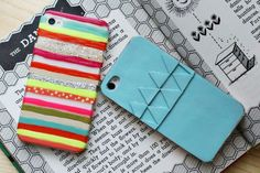 DIY iPhone covers! so cute and easy to customize!