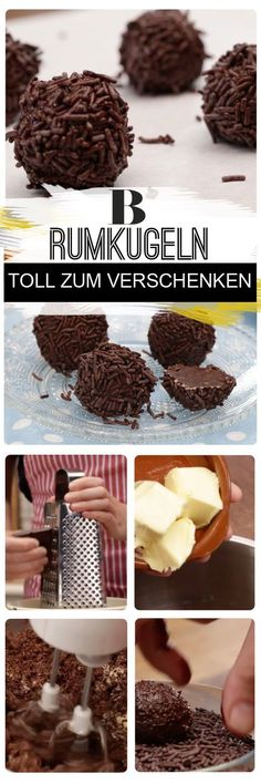 Mindestens so einfach wie lecker: Wie von Zauberhand entsteht aus die… Rum balls. At least as simple as delicious: As if by magic, these four simple ingredients make this sweet chocolate classic with rum without baking or cooking. Rum Balls, Baking Recipes, Cake Recipes, Diet Recipes, Covered Strawberries, Health Desserts, Food Gifts, Chocolate Desserts, Food And Drink
