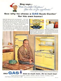 American Gas Association 1957. Shown, New Freedom Gas Kook-Center. No, that's not a typo.