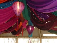 fabric ceiling drapes garden - Google Search