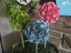 Flowers from Scrapbook Paper