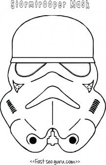 Free Star Wars Stormtrooper Mask Printable For Kidsonline Print Out Starwars