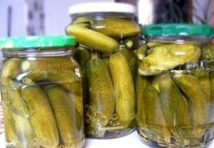 Preserves, Pickles, Cucumber, Food And Drink, Cooking Recipes, Homemade, Canning, Vegetables, Levek