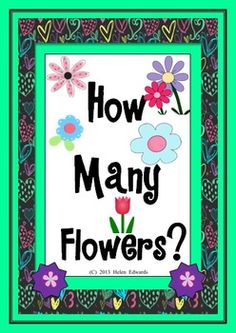 How Many Flowers? - Math Counting Activities $