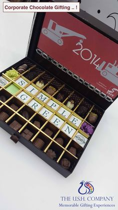 Corporate Chocolate Gifting - Get Creative Chocolates, How To Memorize Things, Creative, Food, Schokolade, Chocolate, Meals, Candy