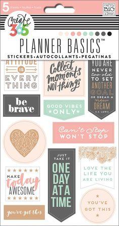Planner Basics™ Stickers - Rose Gold